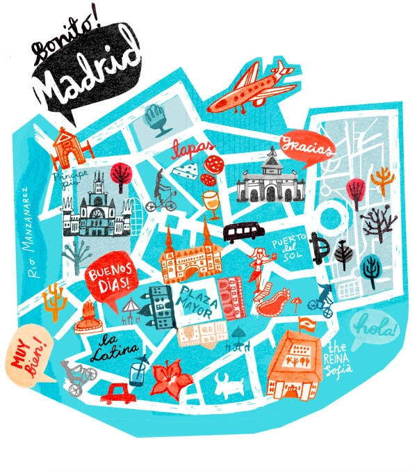 The amazing neighbourhoods of madrid pt ii citylife madrid for Puerta del sol madrid mapa