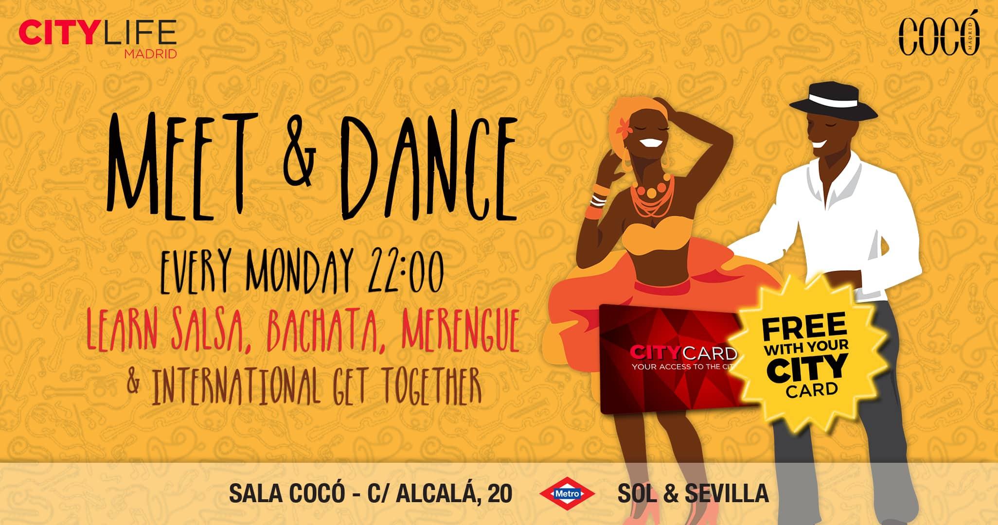 MEET & DANCE - Learn Salsa, Bachata, Merengue & International Get-Together!