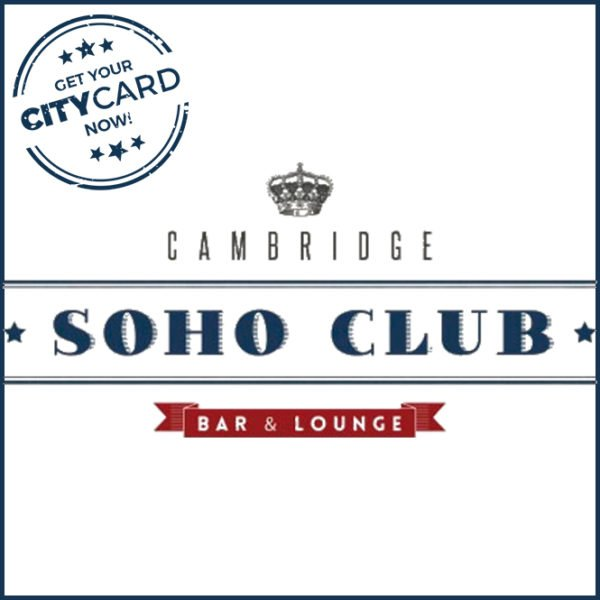 "<span style=""color:red;"">Save 15% on food & drinks</span><br />Cambridge Soho Club: Your lounge in the center of Madrid!"