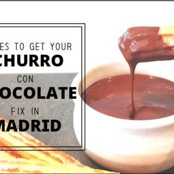 CHURRO CON CHOCOLATE IN MADRID