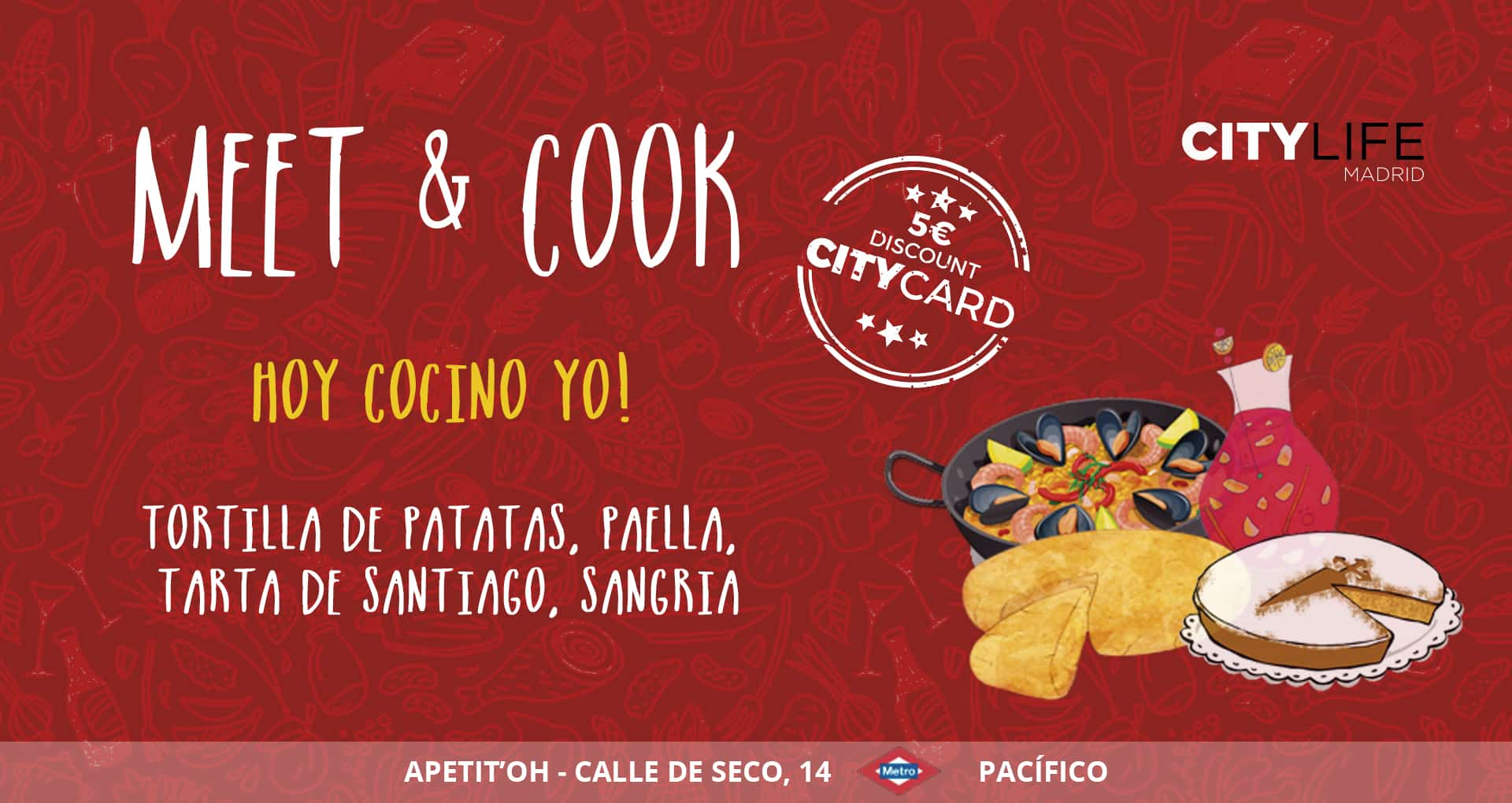 MEET & COOK: Hoy cocino yo - Traditional Spanish Dishes & Sangría!