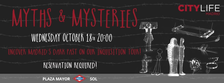 MEET & EXPLORE – SPECIAL EDITION TOURS: Myths & Mysteries – Uncover Madrid's dark past on our Inquisition Tour!