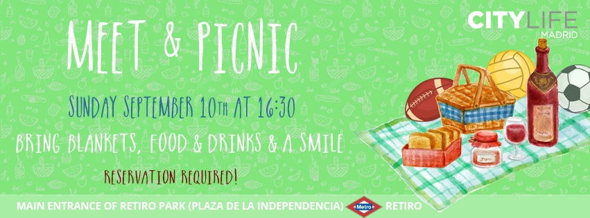 MEET & PICNIC: Time to enjoy Madrid's good weather! Join our FREE Activity!