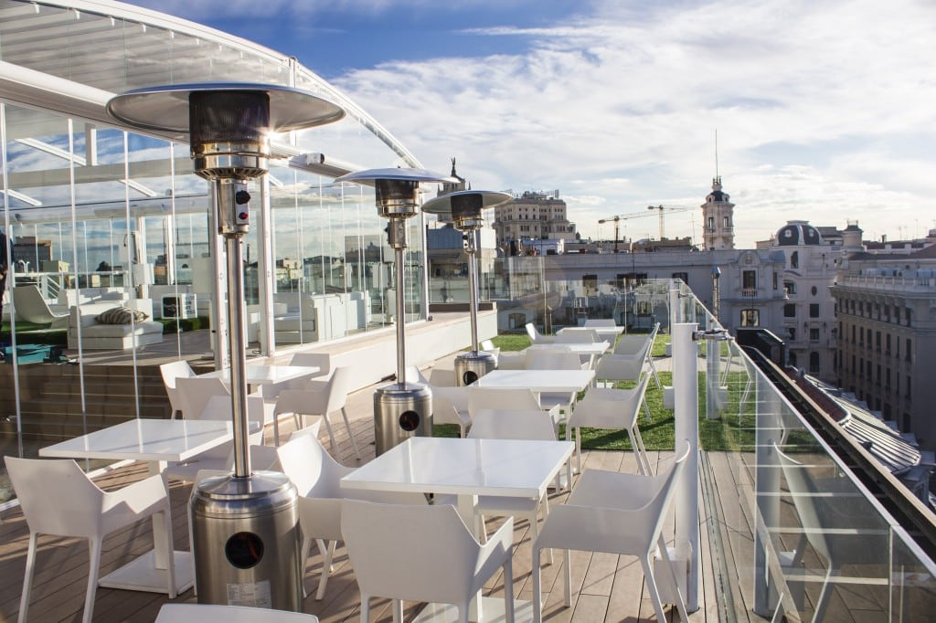 Terraces Open In Winter In Madrid