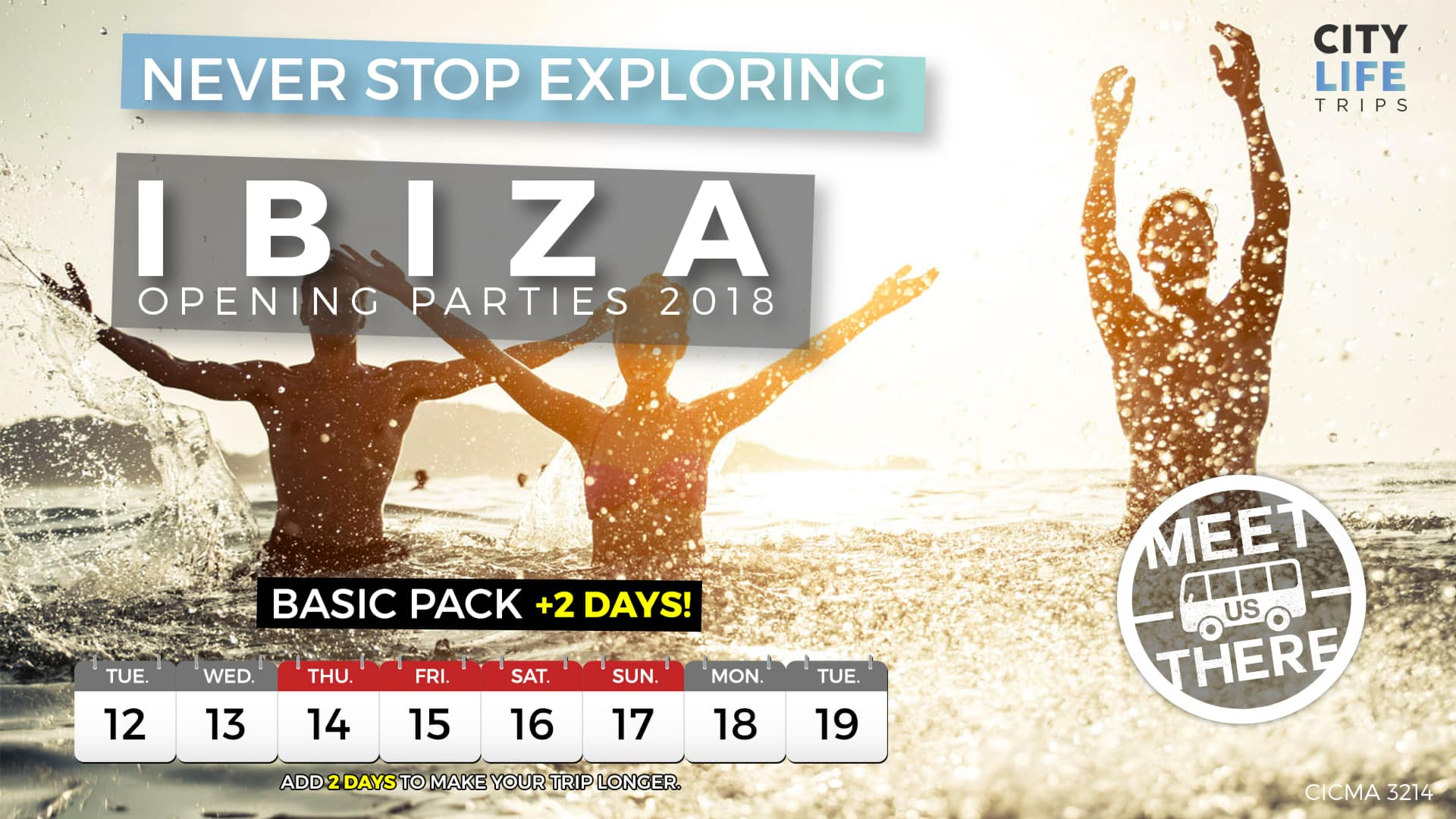 Ibiza – Opening Parties 2018 + 2 Extra Days (Meet us There)