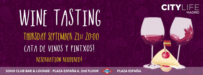 SOLD OUT: WINE TASTING - Cata de Vino y Pintxos!