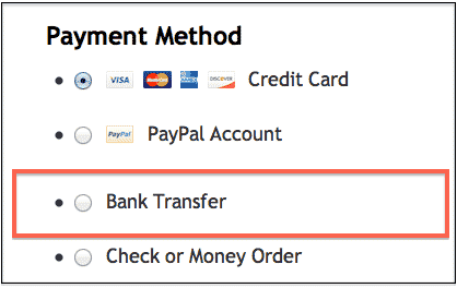 Money Transfers Banktransfer
