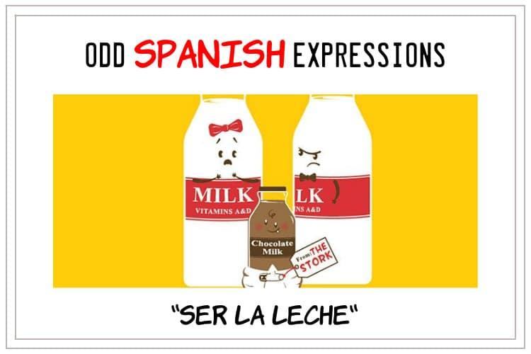 expressions ser la leche