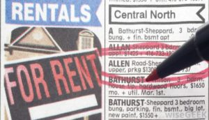 rental-list-in-newspaper-with-red-circle