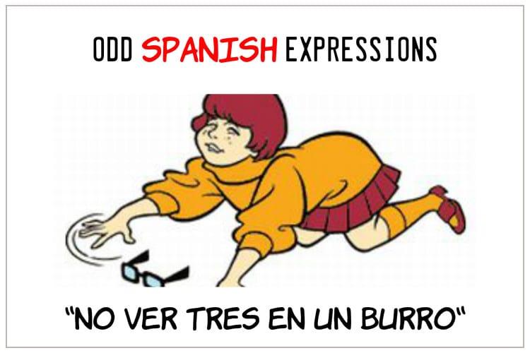 spanisb expressions No Ver Tres en un Burro