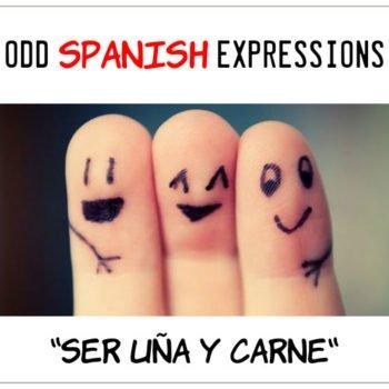 spanish expressions Ser Uña y Carne