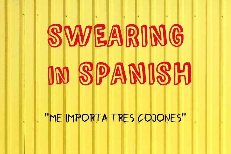 swearing Me Importa Tres Cojones