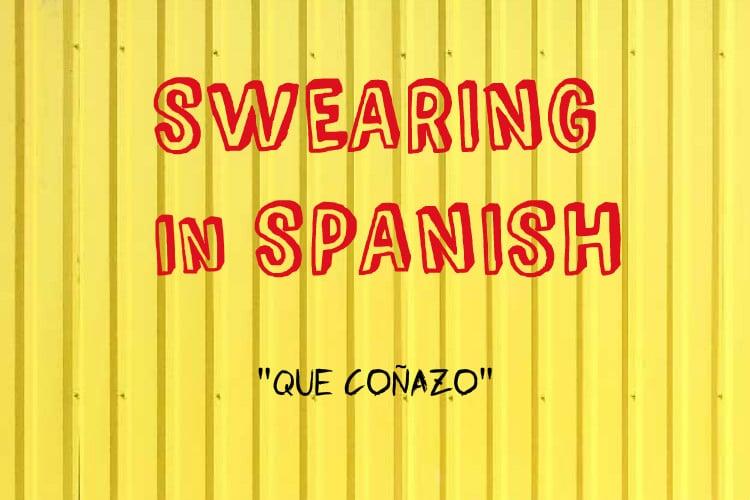 swearing Que conazo