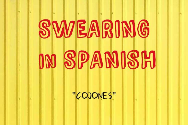 swearing cojones