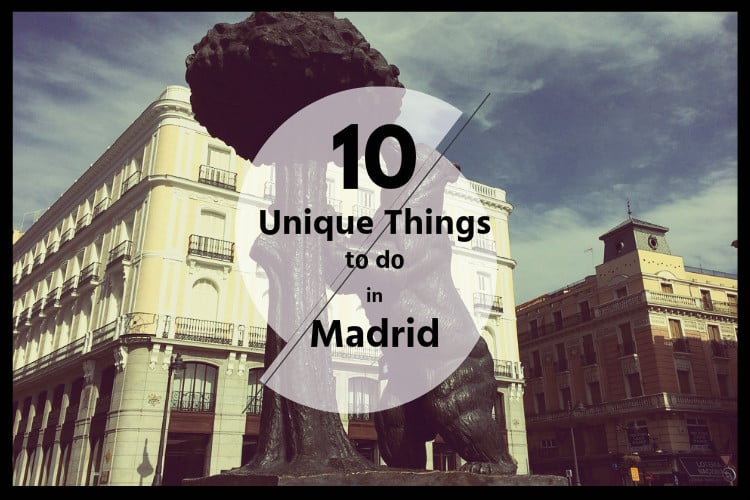 10 unique things to do in madrid citylife madrid for Cool creative things
